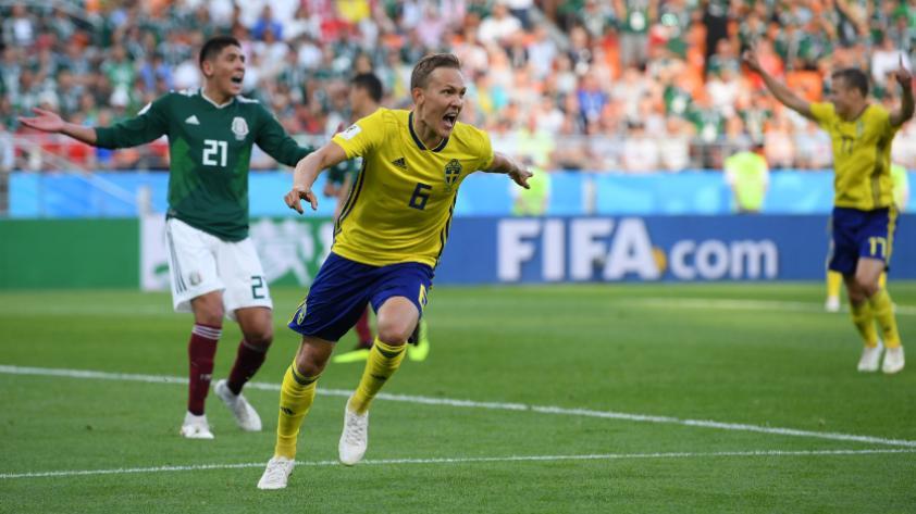 Suecia se impuso 3-0 ante México por la tercera fecha del grupo F de Rusia 2018