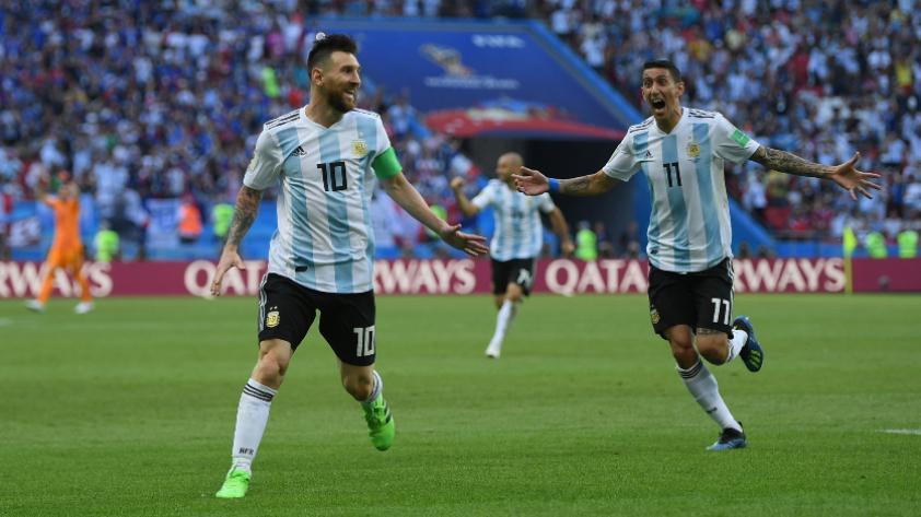 """Ángel Di María: """"Lionel Messi está haciendo bien las cosas, solo que todavía no anota goles"""""""