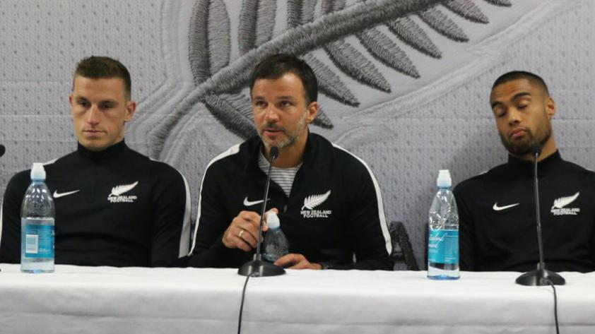Conferencia de prensa de los 'All Whites' se llevó a cabo en el Westpac Stadium