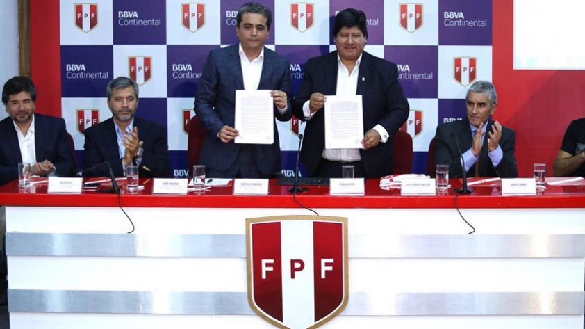 FPF presentó al BBVA Continental como nuevo patrocinador