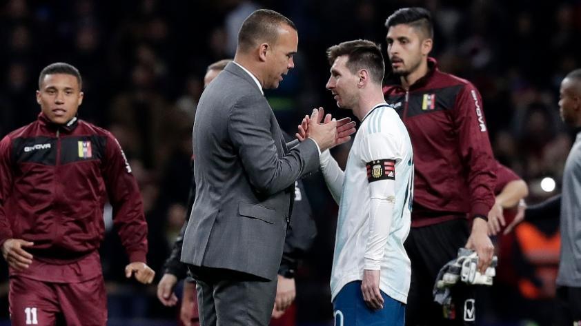 Dudamel y Soteldo opinan sobre Messi en la previa al Venezuela vs. Argentina (VIDEOS)
