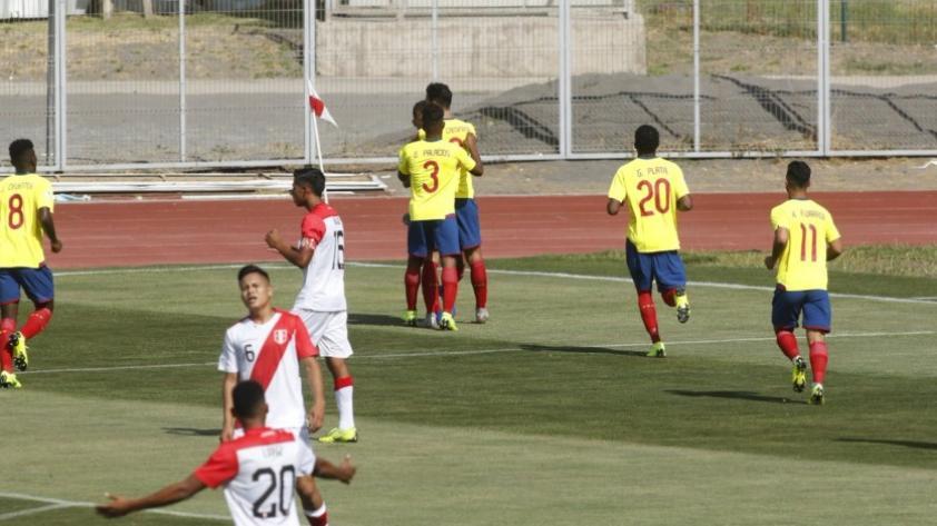 Perú perdió 3-1 ante Ecuador por el Sudamericano Sub 20