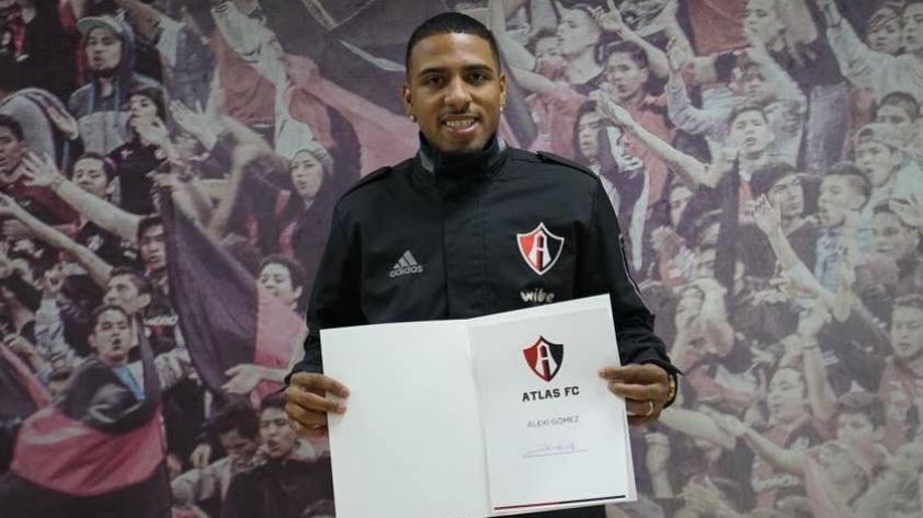 Alexi Gómez firma con Atlas FC para el Clausura 2018 mexicano
