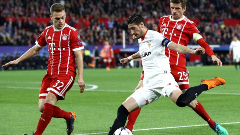 Bayern Munich empató 0-0 con Sevilla y clasificó a semifinales de Champions League