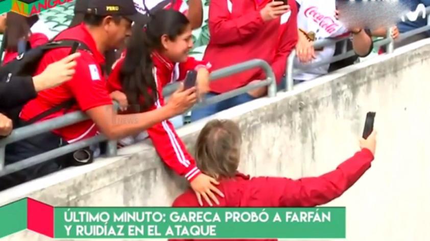 El notable gesto de Ricardo Gareca con una hincha de la selección