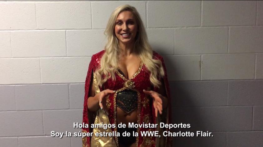 WWE en Lima: Charlotte Flair saluda a Movistar Deportes y a sus fans