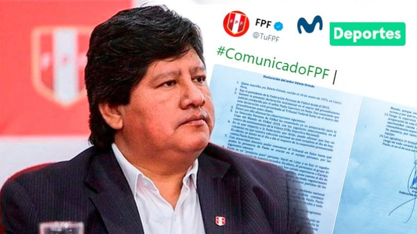 Paolo Guerrero: Edwin Oviedo envía declaración jurada al Tribunal Federal Suizo respecto al caso
