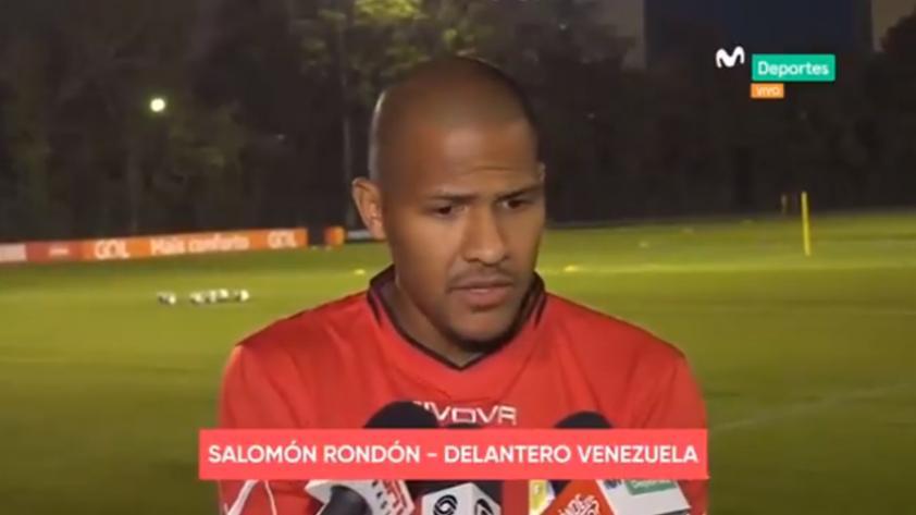Salomón Rondón, delantero de Venezuela: