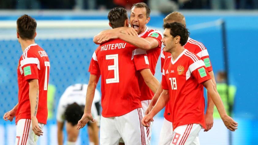 Rusia derrotó 3-1 a Egipto por la segunda fecha del grupo A en Rusia 2018
