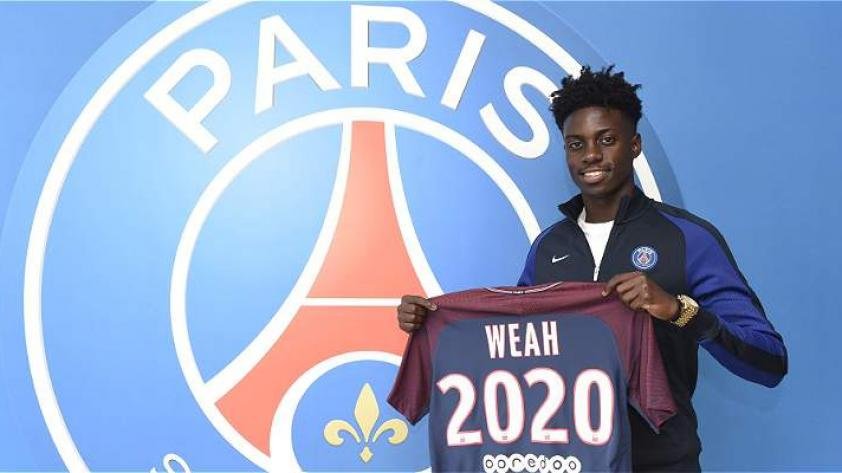 El hijo de George Weah firmó contrato por el PSG