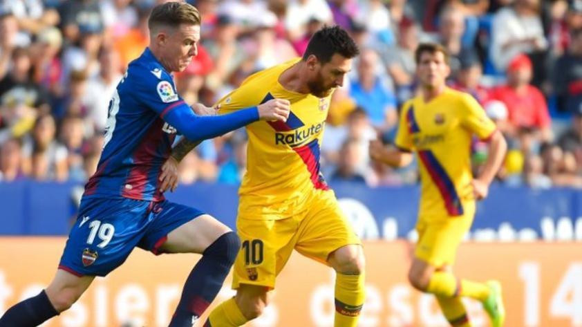 Duro golpe:  Barcelona cayó por 3-1 ante el Levante por la fecha 12 de La Liga