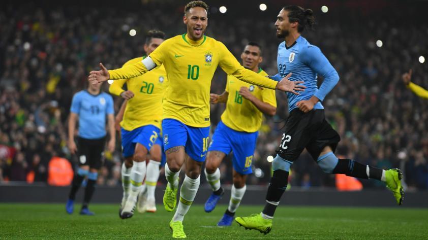 Brasil derrotó 1-0 a Uruguay por partido amistoso internacional FIFA en el Emirates Stadium de Londres