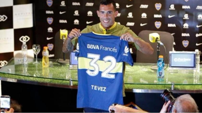 Carlos Tevez fue presentado en Boca Juniors y asegura que buscará ganar la Copa Libertadores