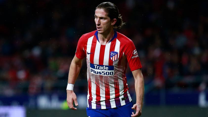 Filipe Luis sufre una lesión muscular