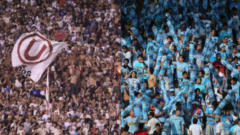 Sporting Cristal y Universitario de Deportes jugarán sin barras durante el año