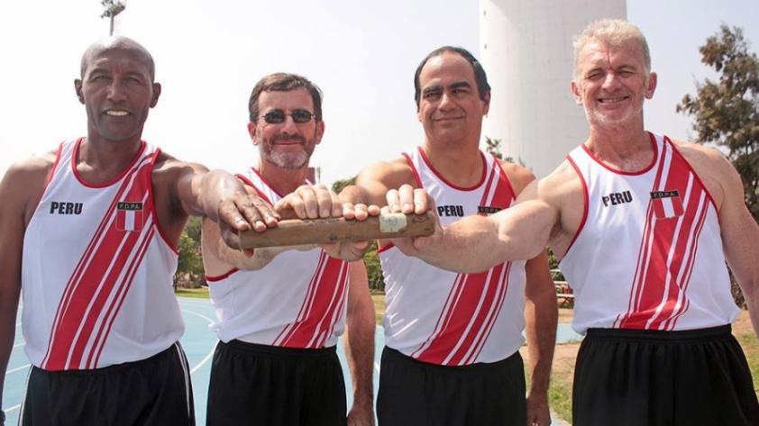El reencuentro del equipo del récord de atletismo