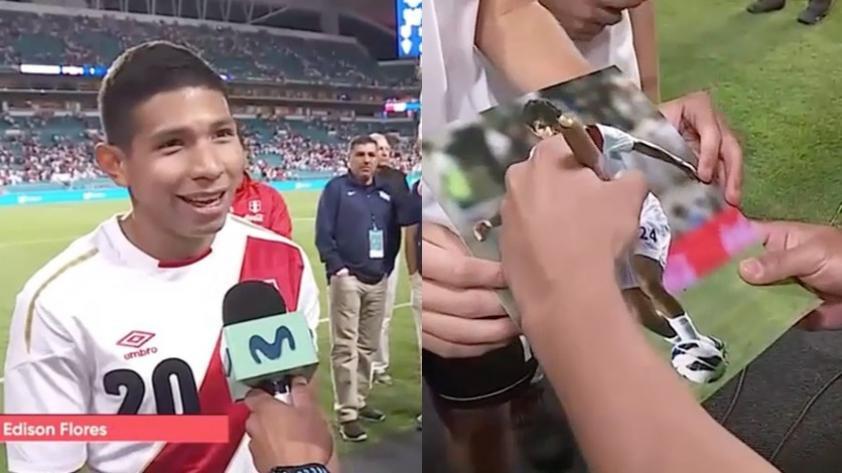 (VIDEO) ¡Lo quieren todos! Edison Flores y el gesto con un niño estadounidense luego del triunfo peruano