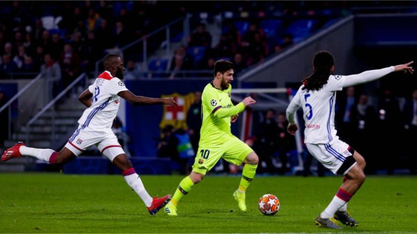 Barcelona empató sin goles con el Olympique de Lyon por los octavos de final ida de la Champions League