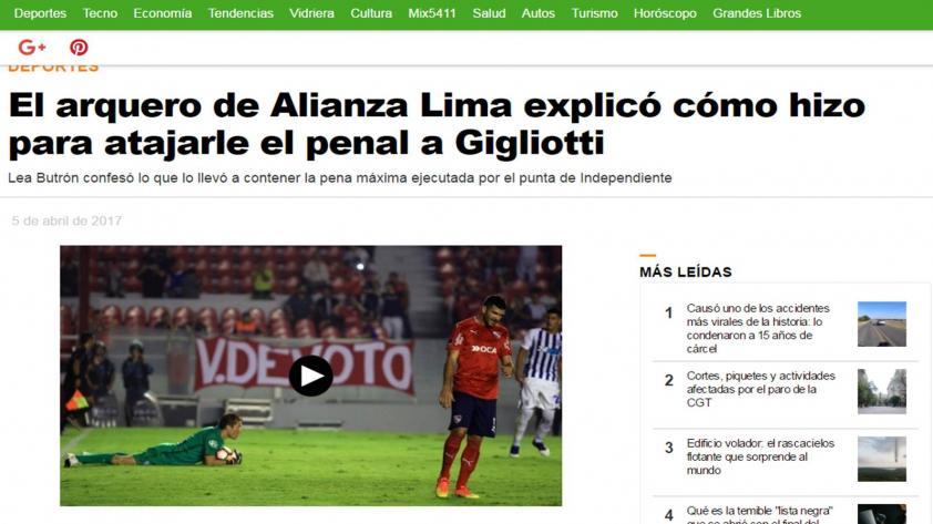 ¿Qué dijo la prensa internacional sobre el Alianza – Independiente?