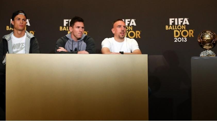 Franck Ribéry cree que le robaron el Balón de Oro del 2013