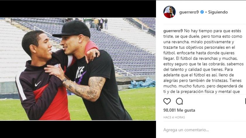 Paolo Guerrero y el emotivo mensaje que le dedicó a Sergio Peña