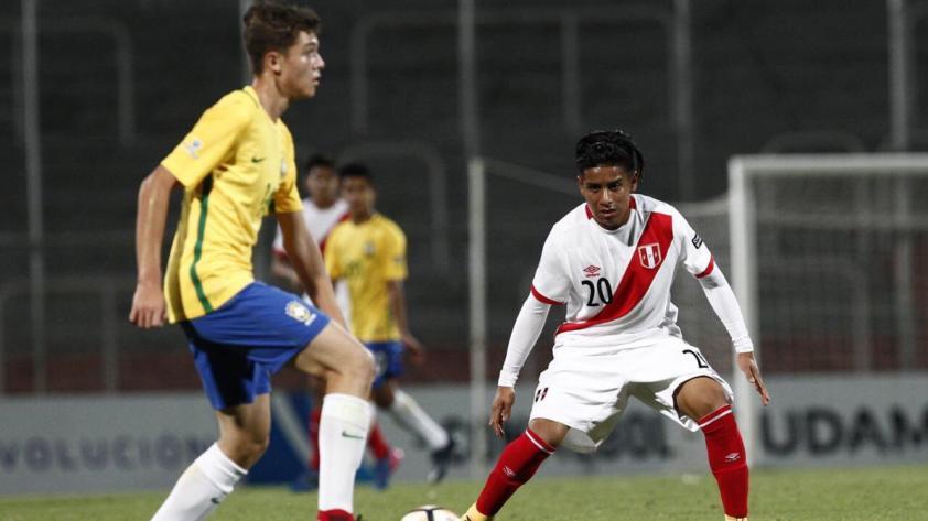 Perú perdió 5-0 ante Brasil pero logró clasificar a las semifinales del Sudamericano Sub-15