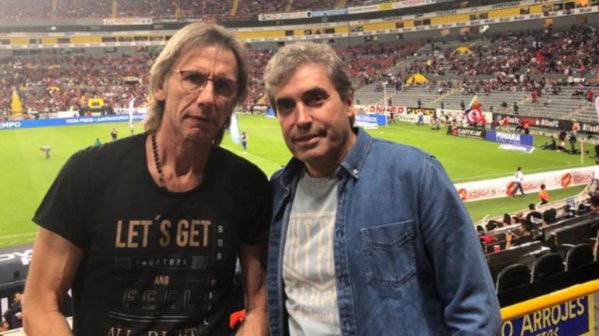 Ricardo Gareca estuvo presente en el estadio para encuentro entre clubes de Anderson Santamaría y Christian Cueva