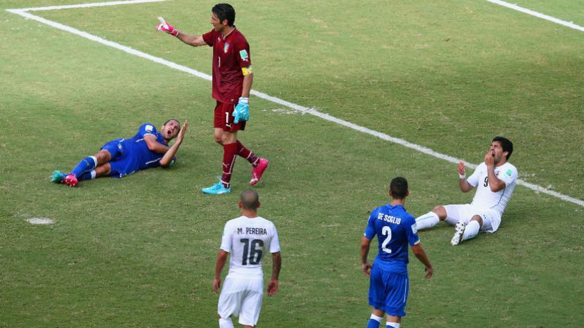 Giorgio Chiellini elogió a Luis Suárez por el mordisco que le dio en el Mundial Brasil 2014