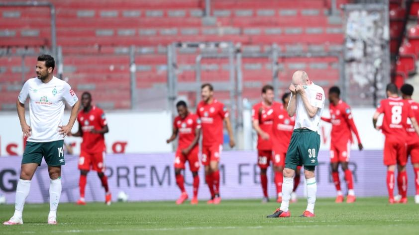 Werder Bremen cae 3-1 ante Mainz 05 y peligra con el descenso de la Bundesliga