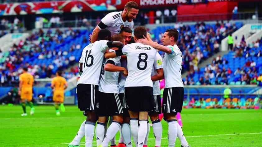 Alemania debutó con triunfo ante Australia en la Copa Confederaciones