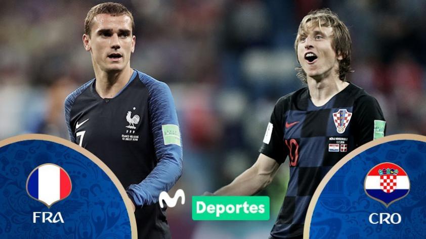 Francia vs. Croacia: fecha, hora y canal de la gran final de Rusia 2018