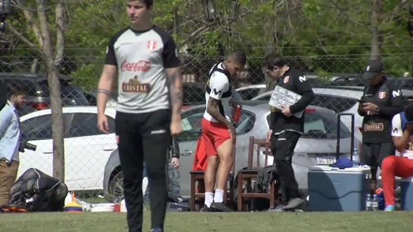Selección Peruana: Paolo Guerrero se retiró del entrenamiento debido a una molestia muscular y preocupa a Ricardo Gareca (VIDEO)