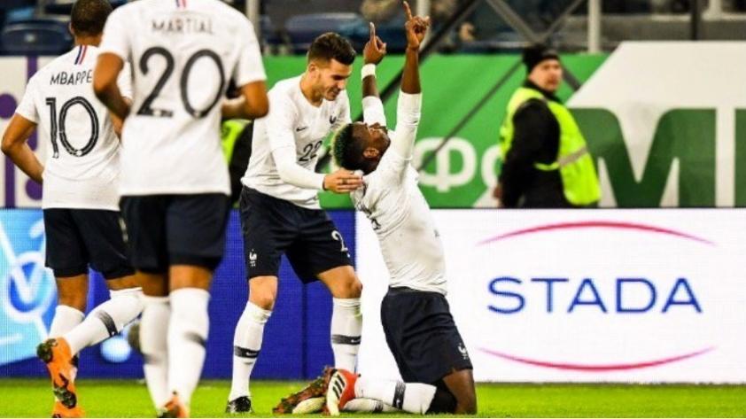 Francia venció 3-1 a Rusia y afina detalles previo a Rusia 2018