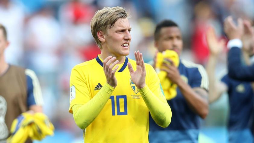 Emil Forsberg, el jugador destacado de Suecia.
