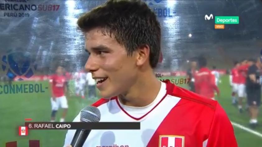 Selección Peruana Sub 17: las palabras de aliento del propio capitán blanquirrojo