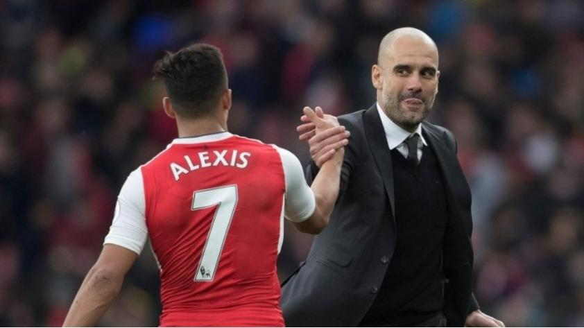 Pep Guardiola felicita a Alexis Sánchez por su fichaje por el Manchester United