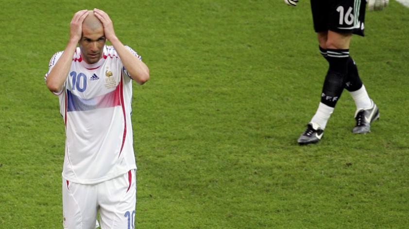 Zinadine Zidane, el mejor jugador de Alemania 2006 que fue expulsado en la final.