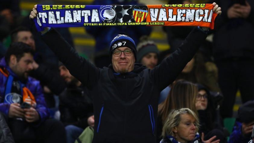 Coronavirus: el Atalanta vs. Valencia terminó siendo una