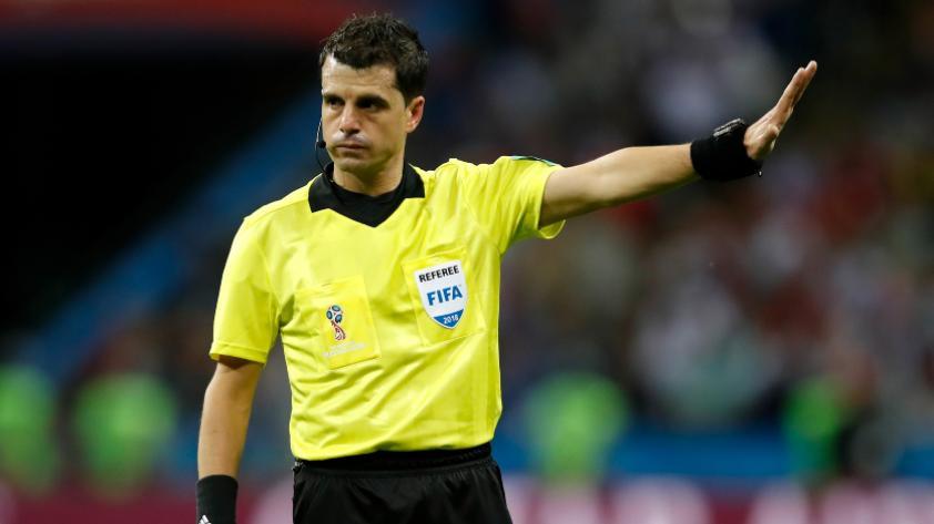 Andrés Cunha, árbitro oficial del Francia vs. Bélgica
