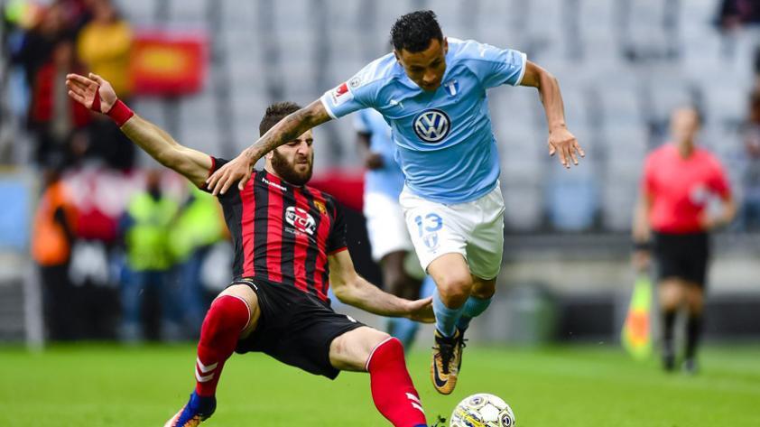 Yoshimar Yotún fue titular en el empate del Malmo FC