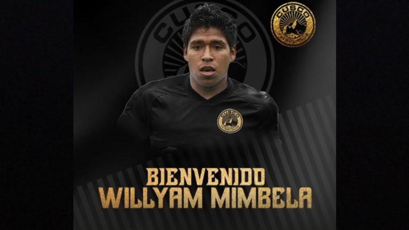 Willyan Mimbela es nuevo jugador del Cusco FC