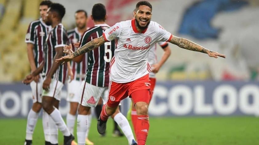 Paolo Guerrero volvió a marcar en la derrota del Internacional de Porto Alegre por 2 a 1 ante el Fluminense