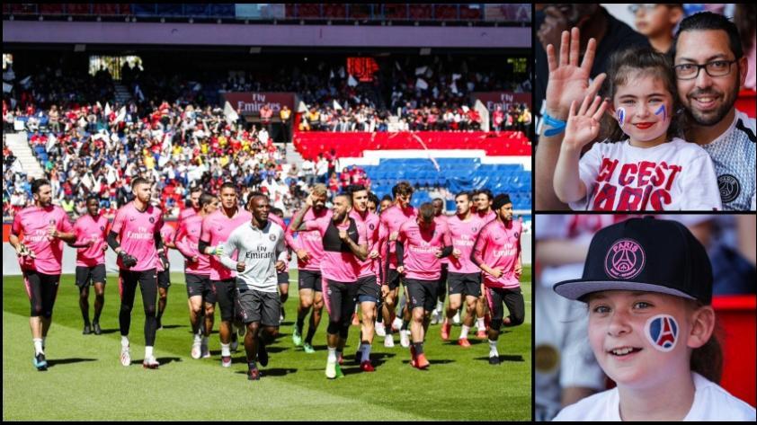El fútbol es de ellos: 7000 niños disfrutaron de los entrenamientos del PSG en el Parc Des Princes (VIDEO)