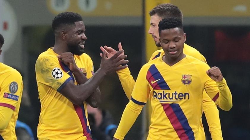 Ansu Fati tras su primer gol en la Champions League: