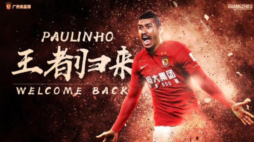 Paulinho volverá a jugar en Guangzhou Evergrande de la Superliga China