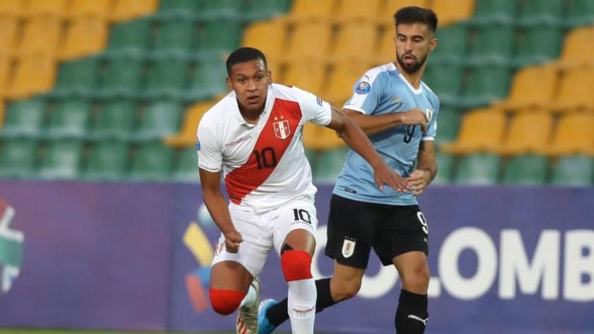 Selección Peruana Sub-23 cayó por 1-0 ante Uruguay en el PreOlímpico de Colombia 2020