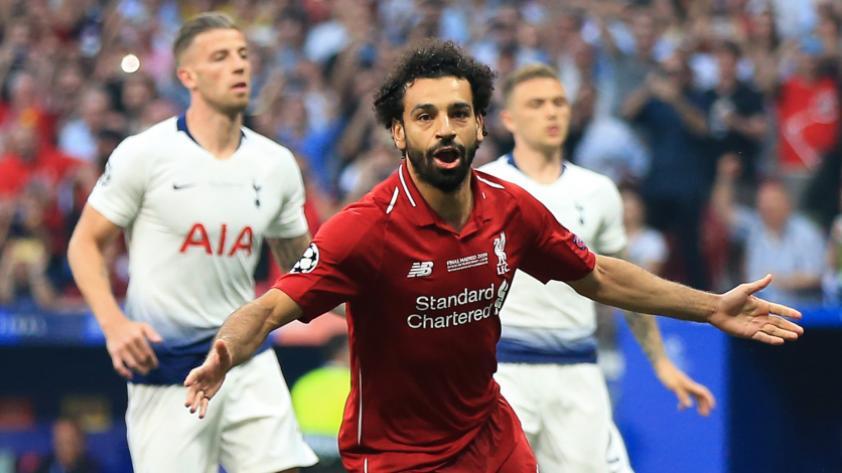 ¡Se le dio! Así celebró Mohamed Salah su gol ante el Tottenham en la final de la Champions League (VÍDEO)