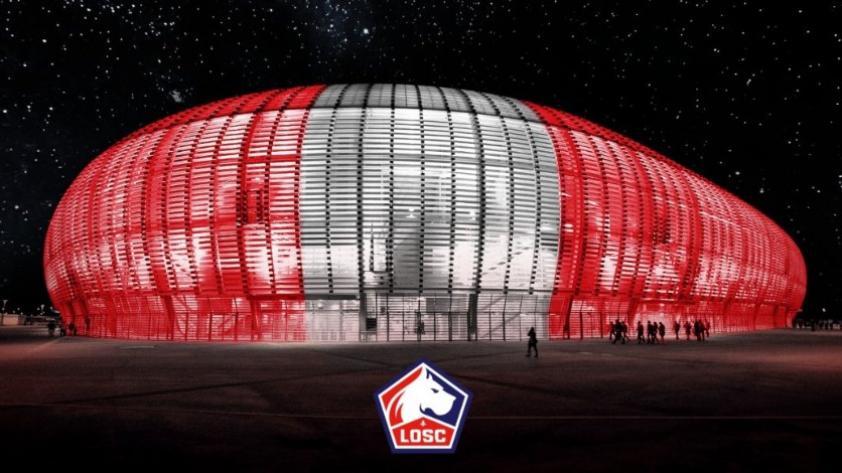El Lille de Francia le cambia de colores a su estadio en homenaje a Perú