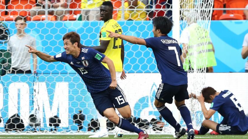Japón derrotó 2-1 a Colombia por el grupo H de Rusia 2018