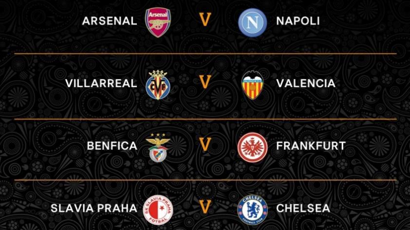 Europa League: también se sortearon las llaves de cuartos de final y estos serán los duelos